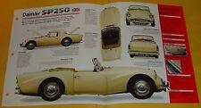 1959 Daimler SP250 250 2548cc V8 2 SU Carbs IMP Specs/photo 15x9