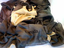 $250 NWT UNISEX  AUTHENTIC RODA  CHARCOAL/BEIGE SCARF MADE IN ITALY