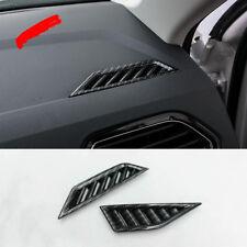 Carbon Fiber Interior Front Air Vent Outlet Cover Trim For VW Tiguan 2016-2017