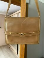 GUCCI GG Logos Clutch Shoulder Bag Brown Leather Italy Vintage Authentic Women's