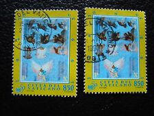 VATICAN - timbre yvert et tellier n° 1017 x2 obl (A28) stamp (O)
