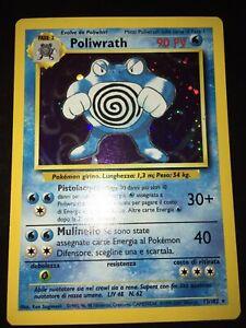 Poliwrath - holo - Set Base - italiano 13/102 ita