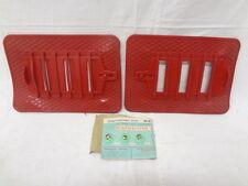 Mascherina invernale Copriradiatore radiator cover winter mask FIAT 500 rosso