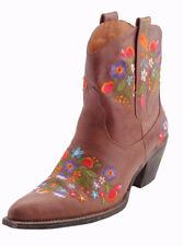 Leather Floral Stitch Boot, Size 10, Cowboy boot, Leather boots, Floral Pattern