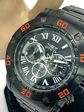 Invicta 19706 Men's Specialty Chronograph Red Accent Black IP Ion-Plated Watch