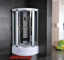 Cabina Idromassaggio 90x90 Box doccia ozonoterapia Vasca Sauna Bagno Turco |3