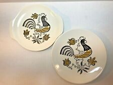 Royal Ironstone Break of Day Good Morning Rooster China Bread Plates set of 2