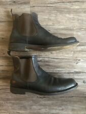 Jil Sander Chelsea Men's dress boots Brown Leather Chukka Ankle Shoes Size 9