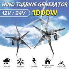 1000W 12V 24V 5 Bladea Home Wind Turbine Charge Generator+Controller