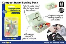 AU 25pcs Portable Sewing Kit Travel Sewing Thread Needles Pins Measure Tape