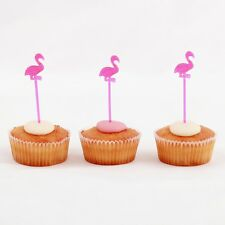 Party Kitsch 24 Flamingo Cake Cupcake Toppers Food Picks