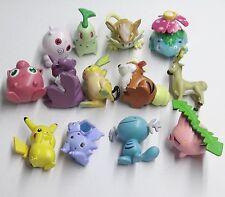 "lot of 13 pcs Pokemon Pikachu Poke Monster figure 1.5""-2"""