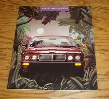 Original 1988 Jaguar XJ6 Deluxe Sales Brochure 88 Jag Evolution
