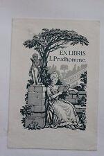 ✒ EX LIBRIS L Prudhomme par Saurel
