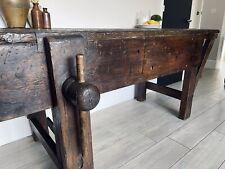More details for restored antique workbench