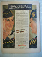 VTG 1943 Orig Magazine Ad Western Guns Bullets US Casualties Held to A Minimum