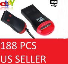 188 PCS Lot USB 2.0 Micro SD HC SDHC TF Flash Memory Card Reader Adapter