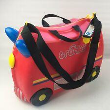 Fire Engine Trunki Ride-on Suitcase Red Kids Fun Luggage Lightweight Case Child