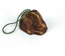 Rabbit Shaped Bell Ornament Brassy Heavy for Small Size