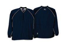 Mizuno Long Sleeved Prestige Batting Jersey Navy Blue M Brand New with Tags