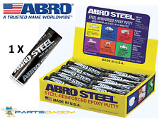 Abro Steel QuickSteel Reinforced Epoxy Metal Instant Repair Putty Weld 2OZ AS224