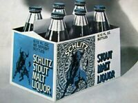 "Schlitz Look Out For The Bull  1974 Regional Rare Original Print Ad 8.5 x 11"""
