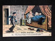French Vintage Postcard: Comic Seaside Humour #B125: Surprise Desagreable