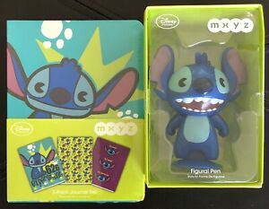 Disney MYXZ Stitch 3 Journal Set And Figural Pen