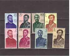 EDIFIL 1298-1305 FORJADORES DE AMERICA  AÑO 1960