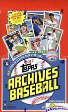 2017 Topps Archives Baseball Factory Sealed HOBBY Box- 2 AUTOGRAPHS! Judge RC Yr