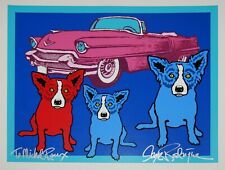 George Rodrigue Blue Dog The Devil In Me Silkscreen Print Signed Numbered Art