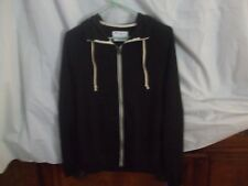 Champion Wmn's Sz Med-Zippered French Terry Hoodie-Black W/Wht Accents-NWT-L@@K