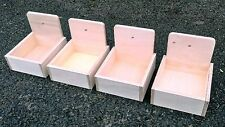 "Four x Canary Pans  6"" x  6."" x  6"" breeding cages nesting boxes aviary"