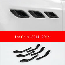 Carbon Fiber Side Air Vent Fender Cover Trim For Maserati Ghibli 2014 -2016