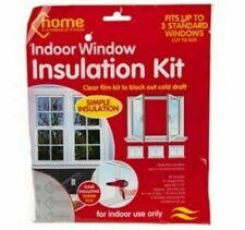 Indoor Window Insulation Draught Draft Kit Shrink Fit Glazing Film