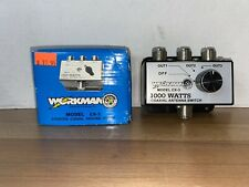 NEW in Box WORKMAN 3-Position coaxial antenna switch 1000 Watts Model CX-3