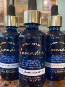 3 BATH & BODY WORKS LAVENDER 3-IN-1 AROMATHERAPY OIL 1.5 FL OZ CASTOR SEED