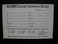 """KOME 98.5 FM - Decal / Sticker Set - """"ROLLING STONES"""" - (4""""x6"""") - Limited RARE!!"""