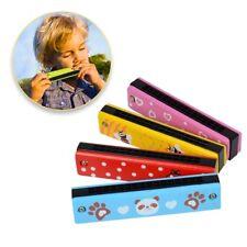 Musik Karikatur farbige Zweireihige Löcher Holz Mundharmonika Kinder Spielzeug