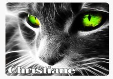 Tapis de souris Chat personnalisé avec prénom V1