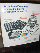 Family Bingo Game Supply  Bingo Cage Balls Master Board cards chips