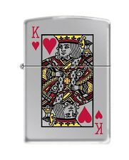 Zippo 7555, King of Hearts, High Polish Chrome Finish, Full Size