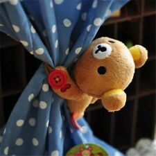 2pcs curtain buckle Cartoon Rilakkuma Bear Curtain Belt decor Door Curtain Buckl