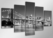 Tableau Moderne New york 5 partie Image sur toile 100 x 50cm