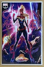 Captain Marvel #1 COVER G Variant Signed W/COA - J SCOTT CAMPBELL Convention