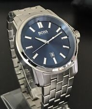 Hugo Boss Men's Origin Blue Dial Stainless Steel Watch 1513044 Brand New