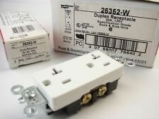 (8) Pass & Seymour 26352-W Specification Grade 20A 125V White Duplex Receptacles