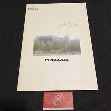 88-91 Honda Prelude JDM Brochure Catalog OEM 87 89 90 Rare BA4 BA5 2.0Si Si XX