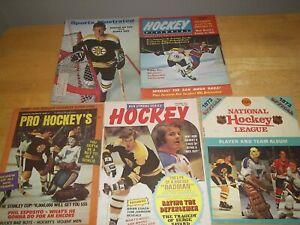 5 Bobby Orr Hockey Magazines Boston Bruins