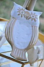 ANTHROPOLOGIE Ceramic Owl Spoon Rest, by Linda Hsaio
